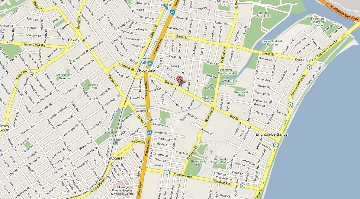 Accommodation Sydney Hotel Style Apartments Rockdale : map from www.accommodationsydney.com.au size 1192 x 660 jpeg 181kB